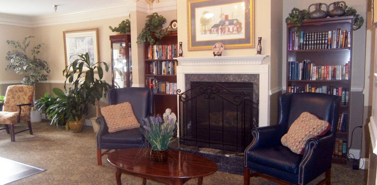 Heath House DePaul Senior Living Fireplace