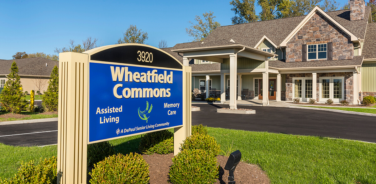 Wheatfield Commons DePaul Senior Living Exterior Sign