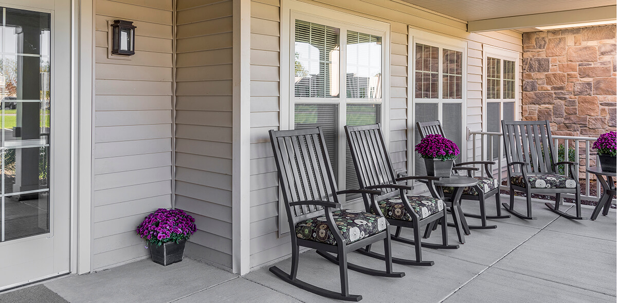 Wheatfield Commons DePaul Senior Living Porch