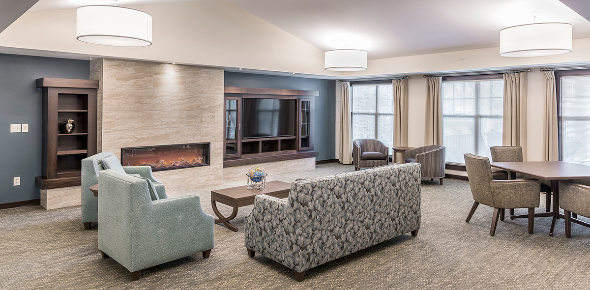 Wheatfield Commons DePaul Senior Living Living Area