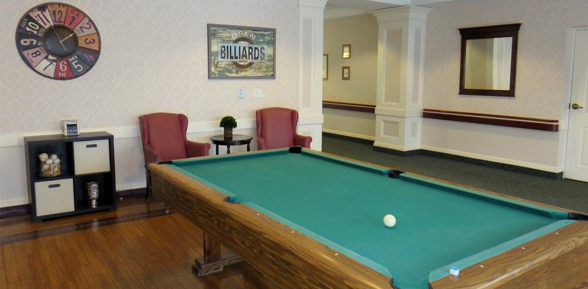 Woodcrest Commons DePaul Senior Living Pool Table