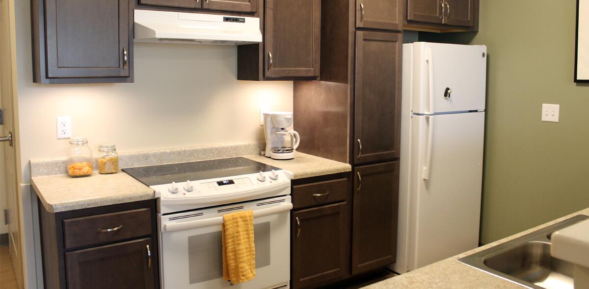 D Skybird Landing Apartments Kitchen