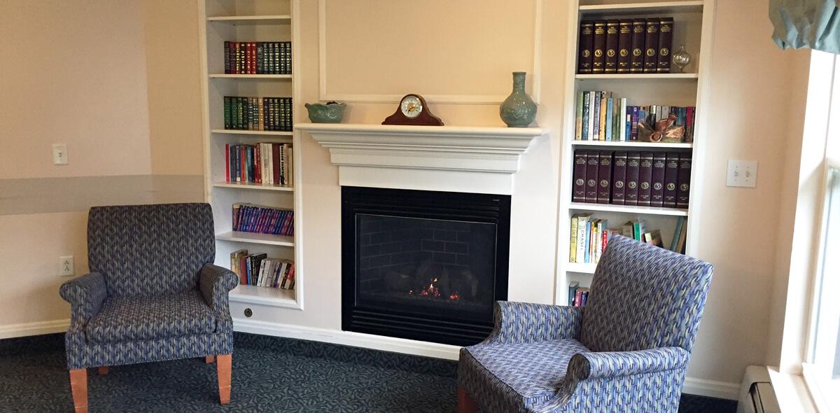 Woodcrest Commons DePaul Senior Living Fireplace