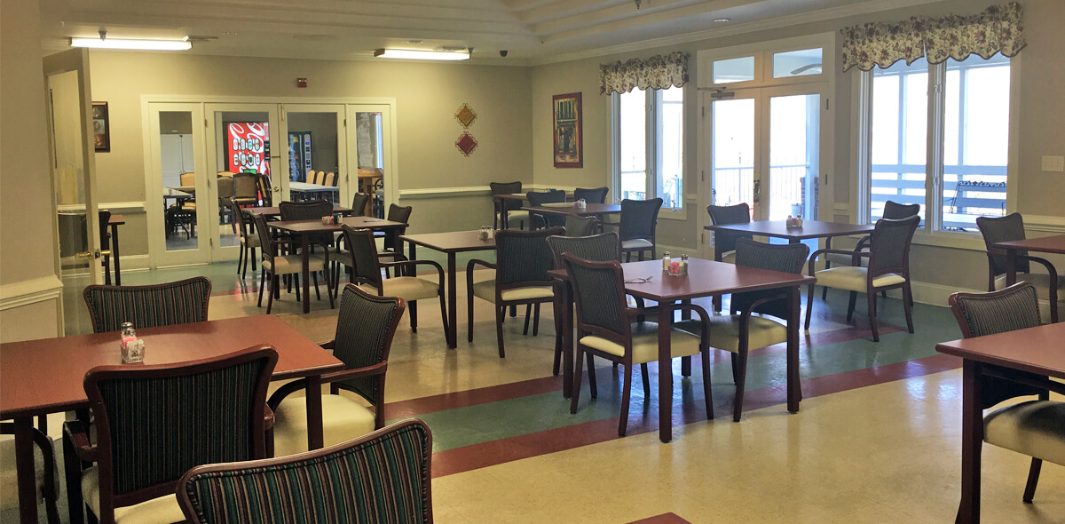 Woodridge DePaul Senior Living Dining Room