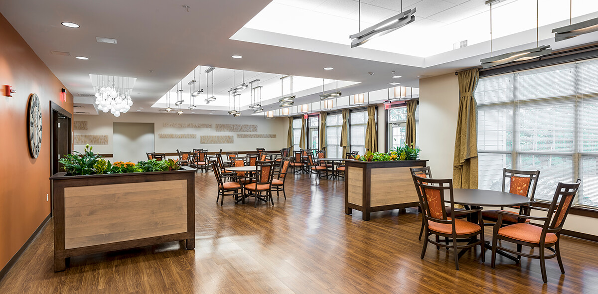 Wheatfield Commons DePaul Senior Living Dining Room