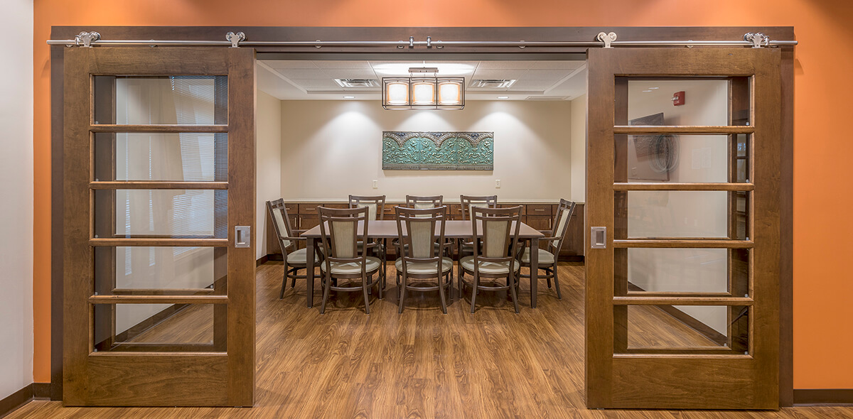 Wheatfield Commons DePaul Senior Living Private Dining Room