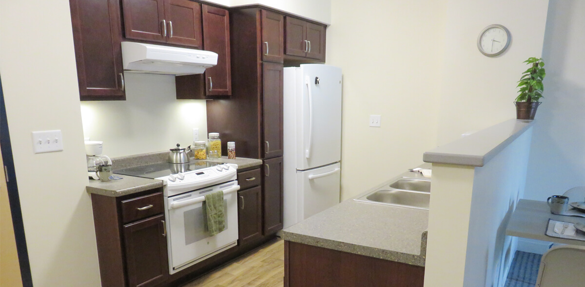 Trolley Station Apartments Kitchen
