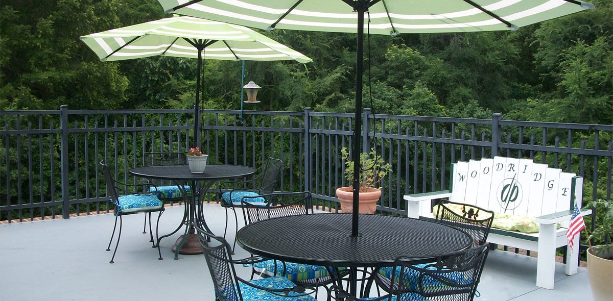 Woodridge DePaul Senior Living Deck