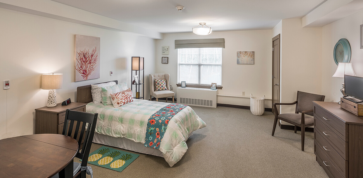 Wheatfield Commons DePaul Senior Living Bedroom