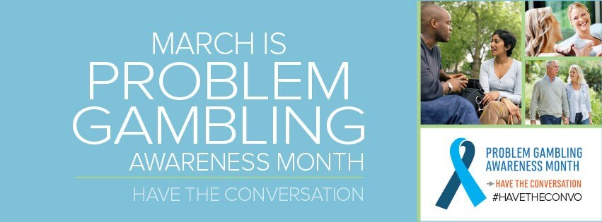 March Is Problem Gambling Awareness Month Online banner graphic