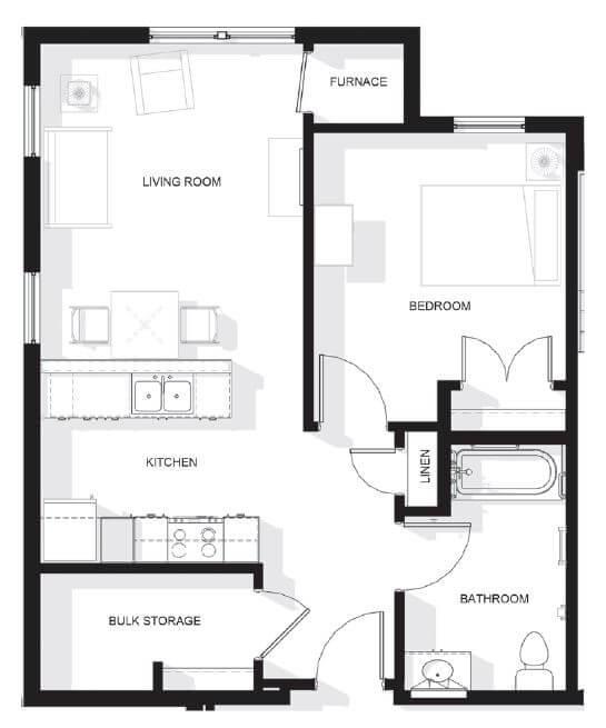 Skybird Landing One Bedroom Apartment Floor Plan