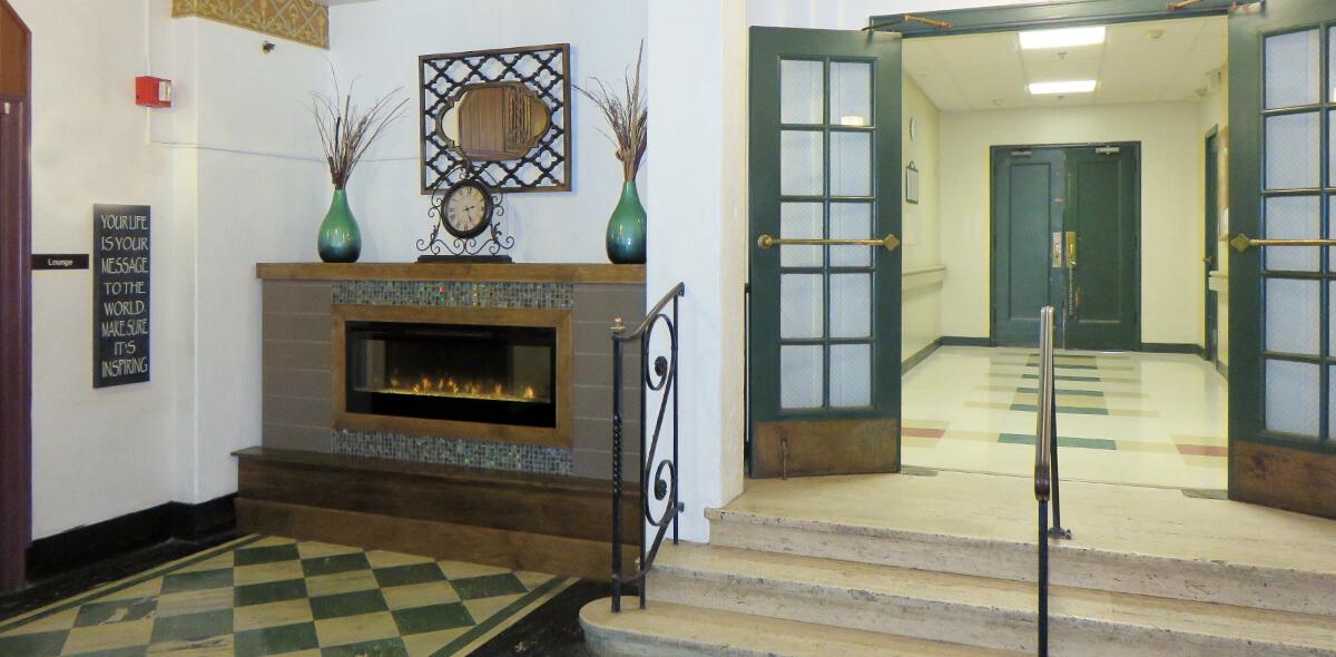 DePaul Cornerstone Community Residence Single Room Occupancy Program Fireplace