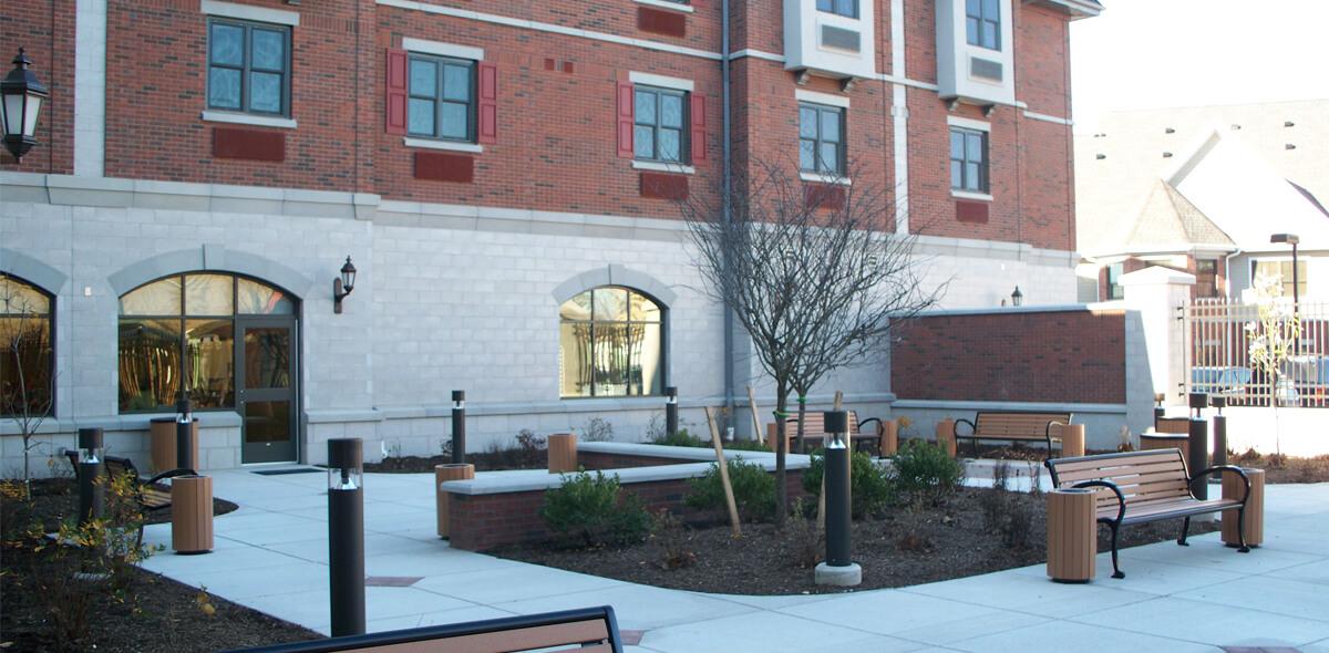 DePaul Halstead Square Community Residence Single Room Occupancy Program Courtyard