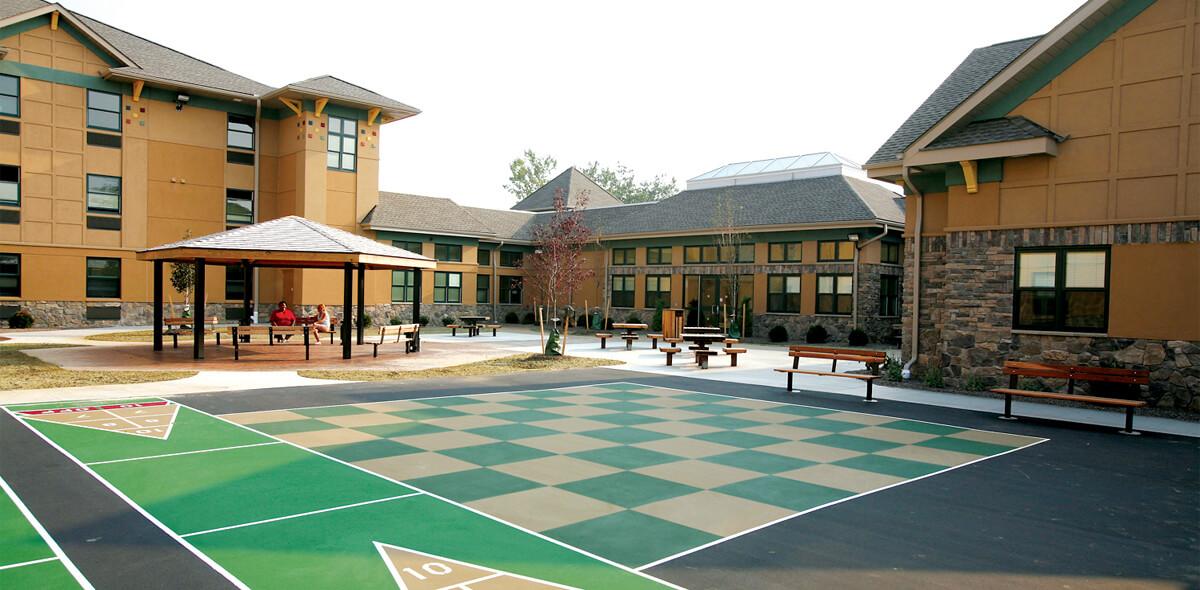 DePaul Seneca Square Community Residence Single Room Occupancy Program Courtyard