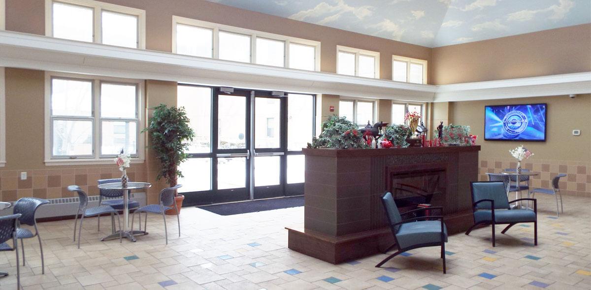 DePaul Seneca Square Community Residence Single Room Occupancy Program Fireplace