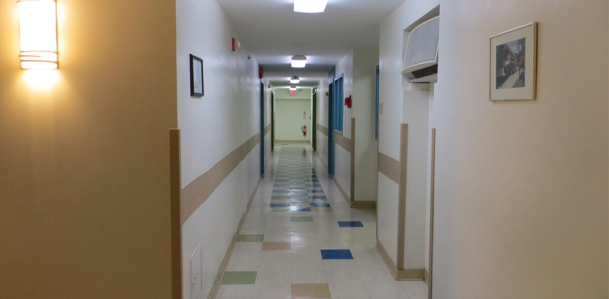 DePaul McKinley Square Community Residence Single Room Occupancy Program hallway