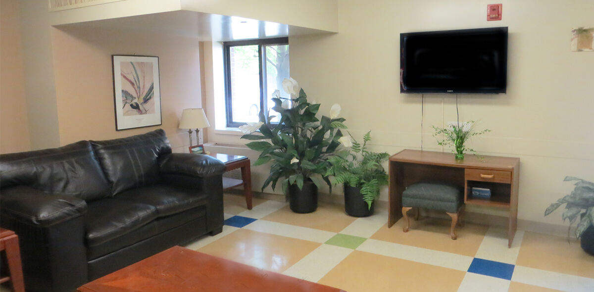 DePaul McKinley Square Community Residence Single Room Occupancy Program Living Area