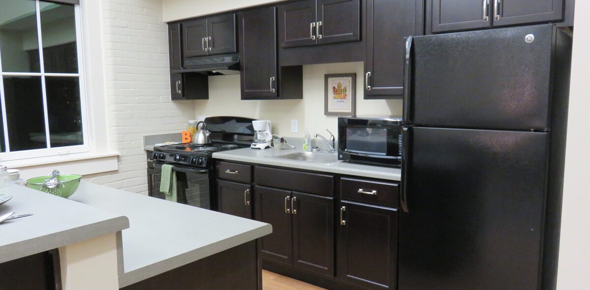 DePaul Carriage Factory Apartment Treatment Program Kitchen