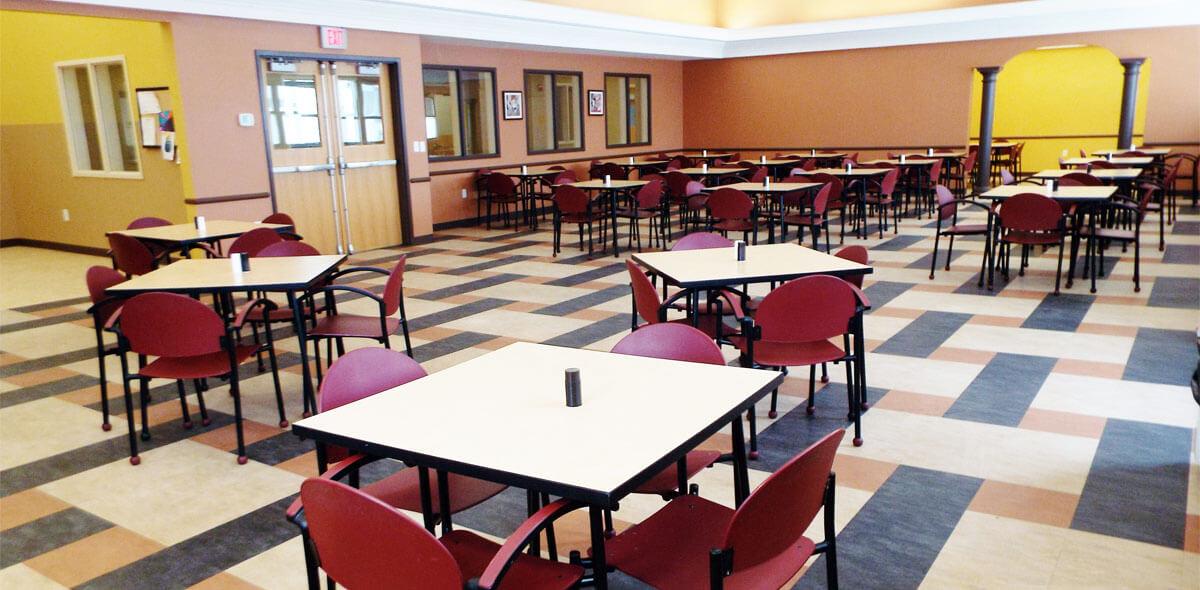 DePaul Seneca Square Community Residence Single Room Occupancy Program Dining Area