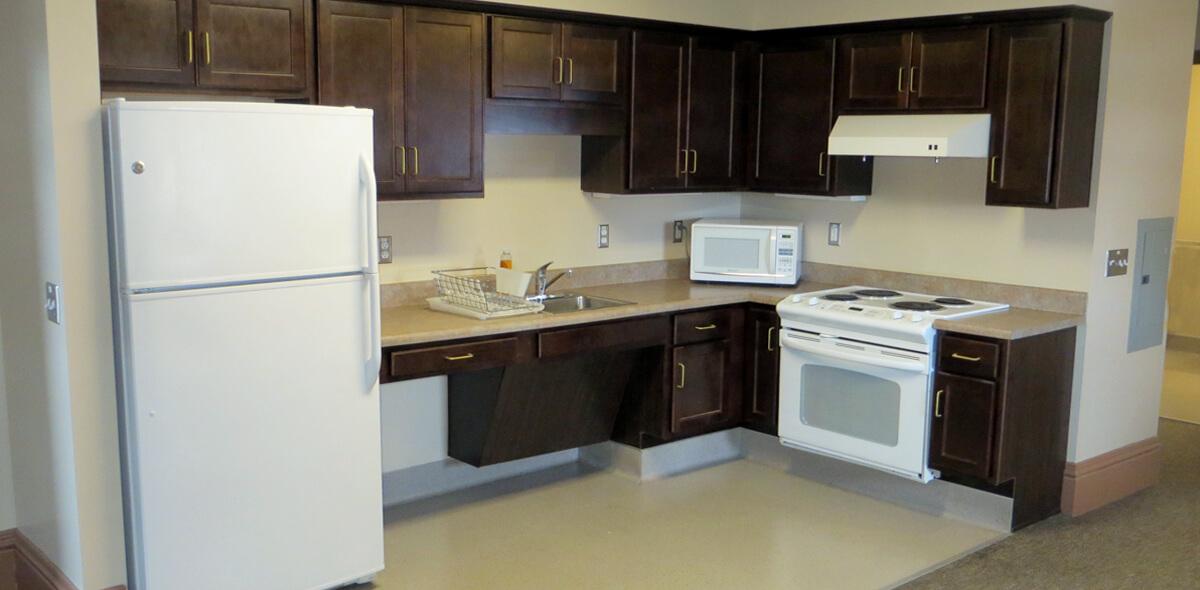 DePaul West Main Apartment Treatment Program Kitchen