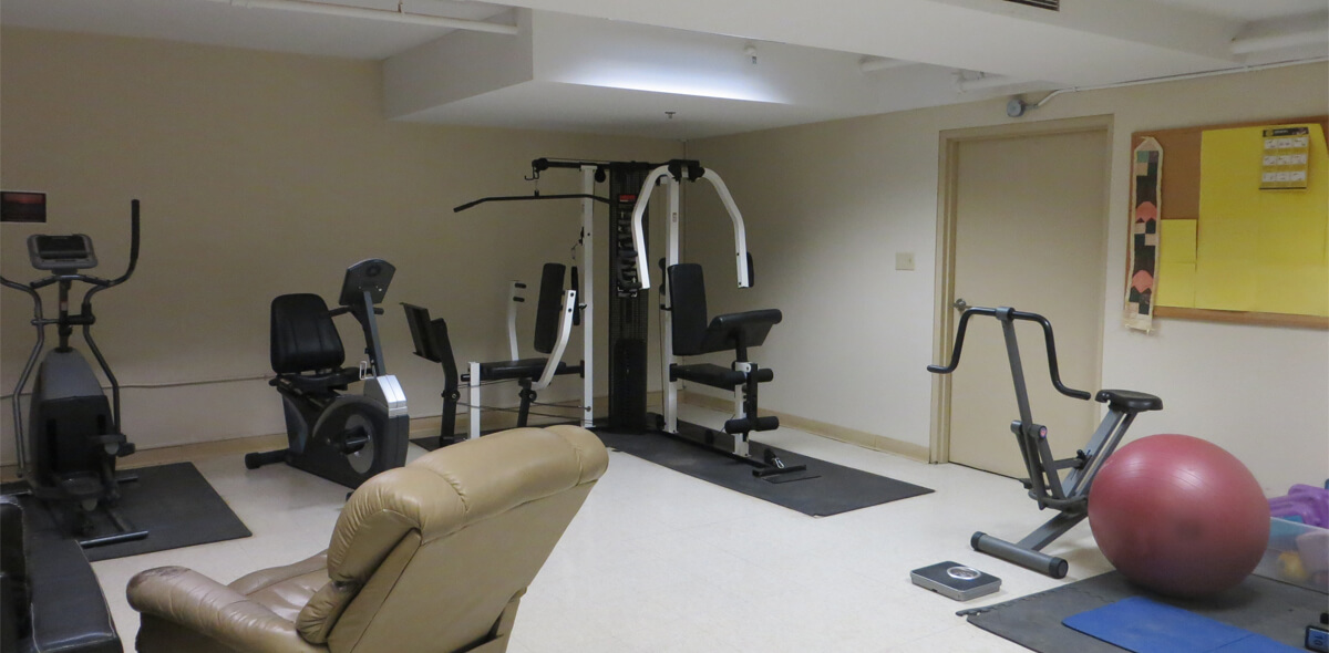 DePaul McKinley Square Community Residence Single Room Occupancy Program Exercise Room