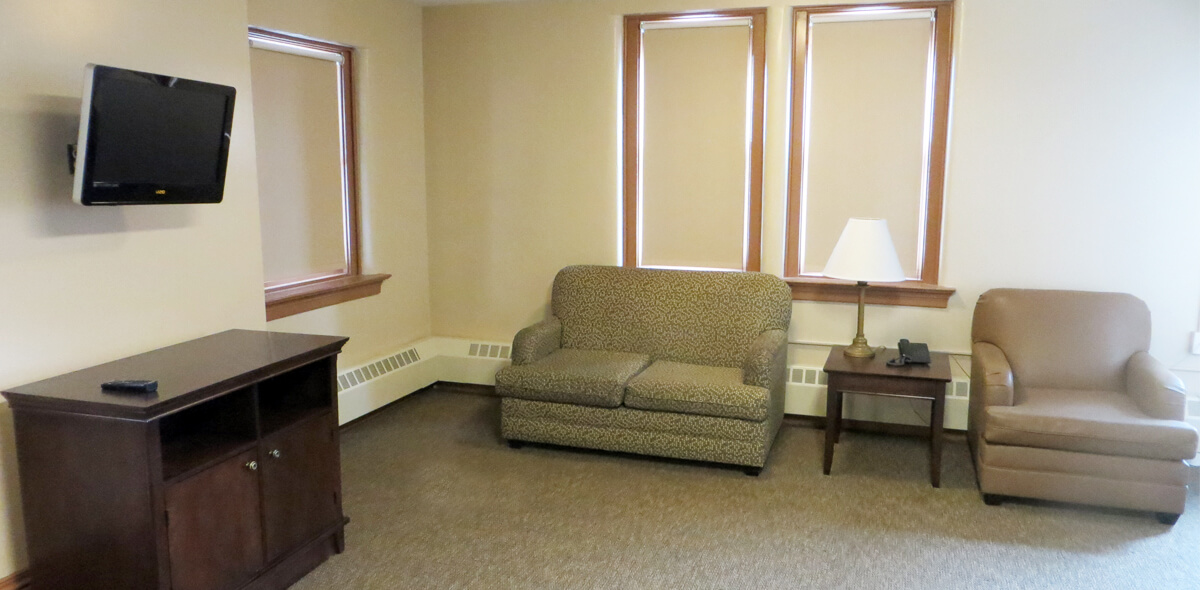 DePaul West Main Apartment Treatment Program Living Room