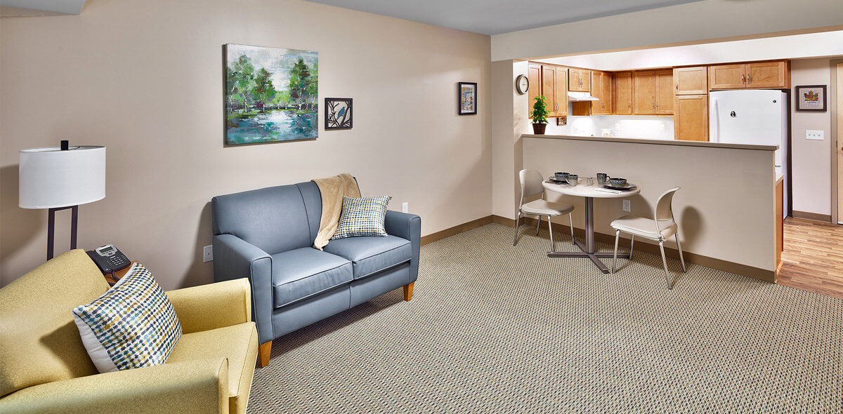 DePaul Rochester View Apartment Treatment Program Living Room