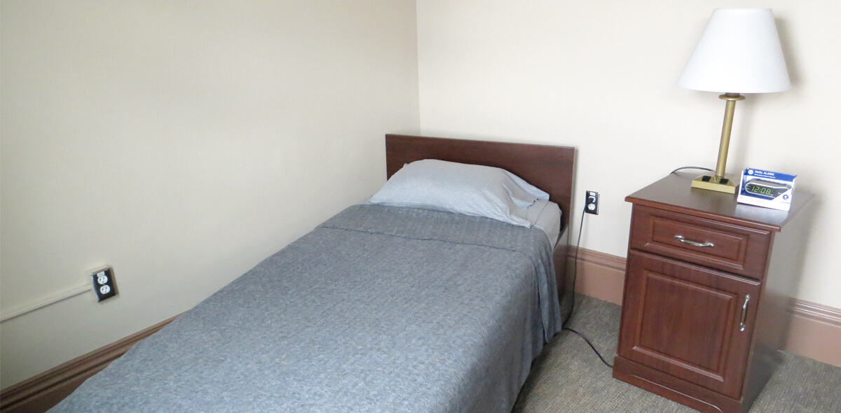 DePaul West Main Apartment Treatment Program Bedroom