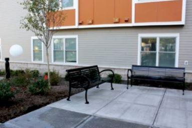 Joseph L. Allen Apartments Exterior Benches