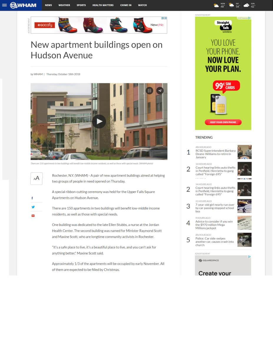 New Apartment Buildings Open On Hudson Avenue 13 WHAM