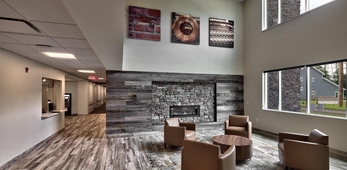 DeWitt Clinton Apartments Fireplace