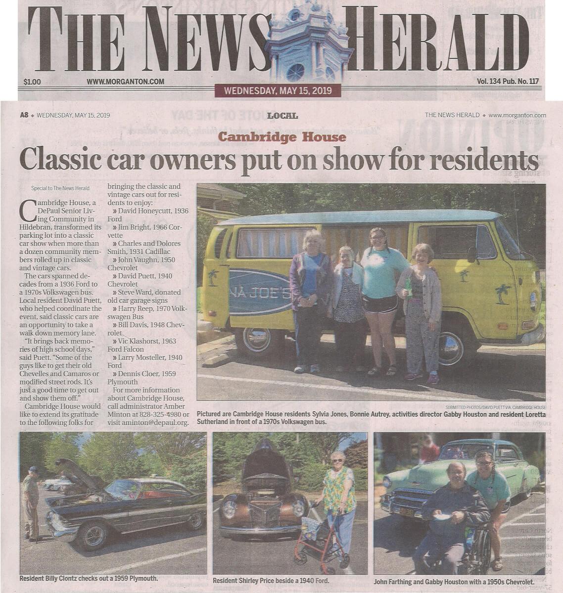 Cambridge House Car Show, 5.15.19 News Herald