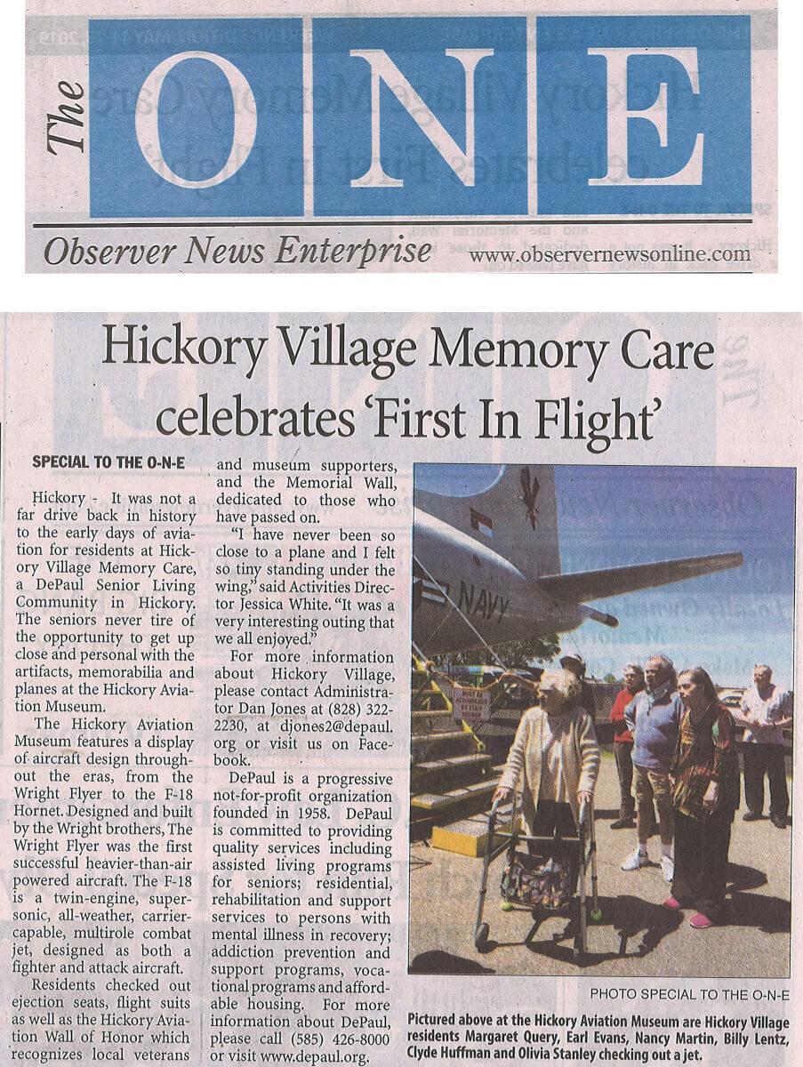 Hickory Village Aviation Museum, 5.11.19 Observer Enterprise