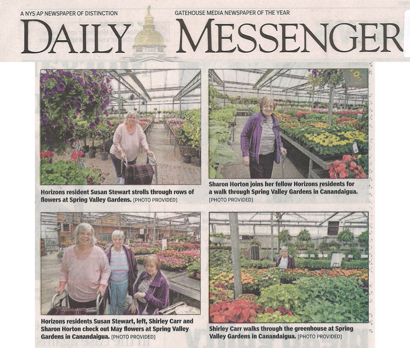 Horizons May Flowers, 5.30.19 Daily Messenger