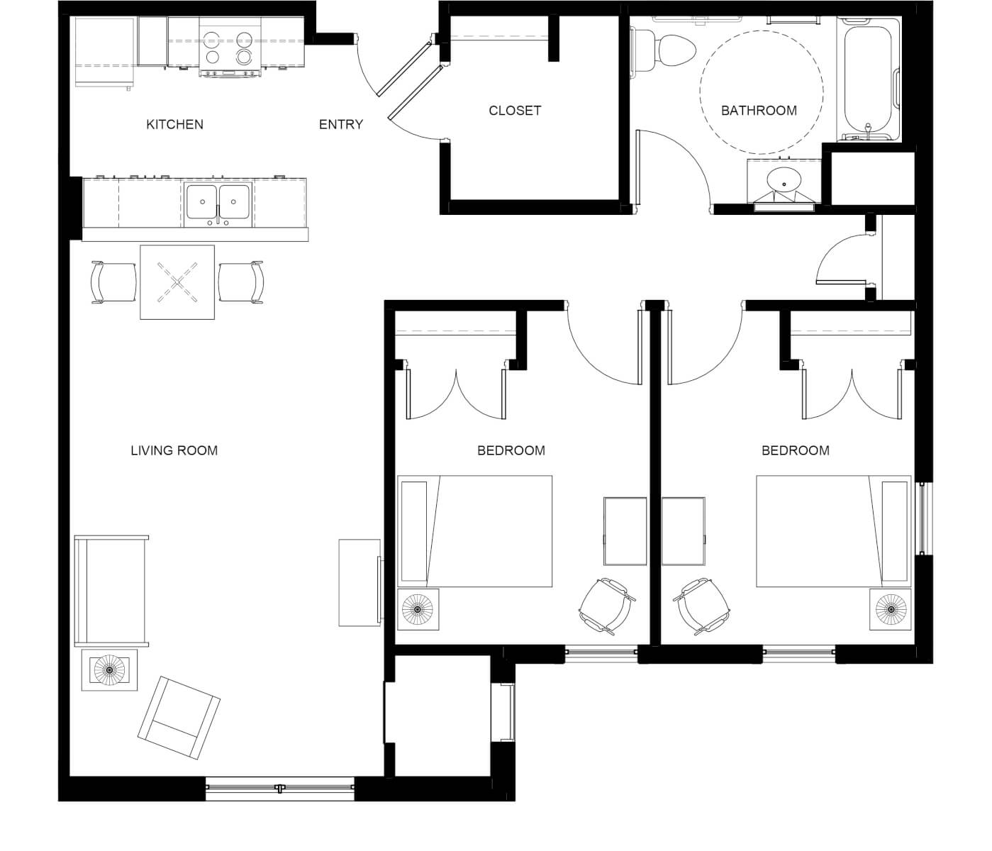 La Rosa Villas Two-Bedroom Unit