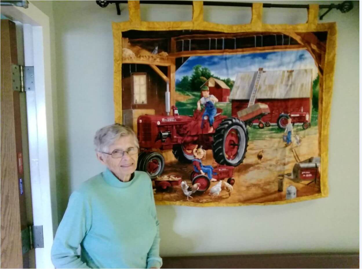 Skeet With Tractor Quilt