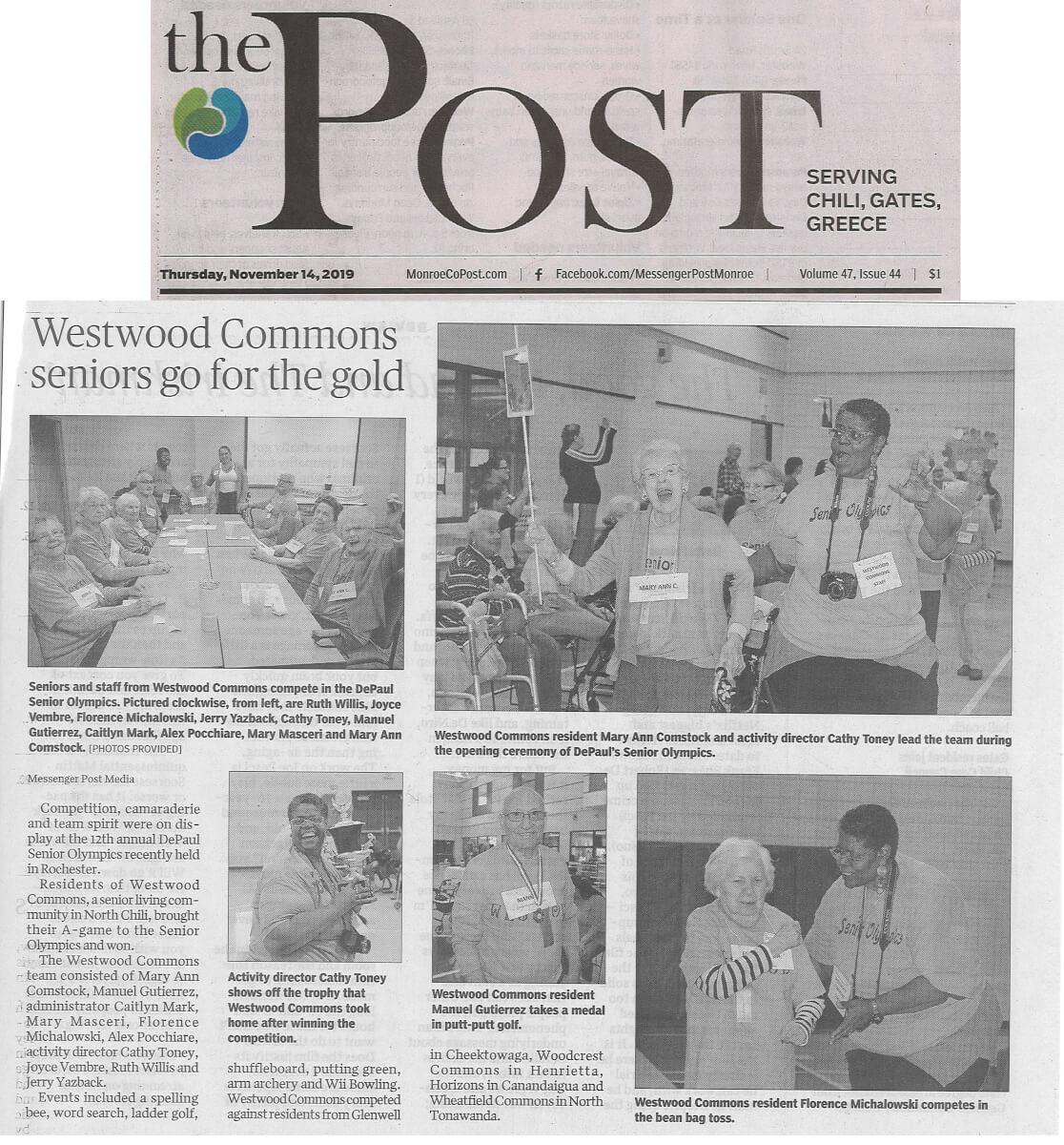 Westwood Commons Senior Olympics, 11.14.19 Post (cropped)
