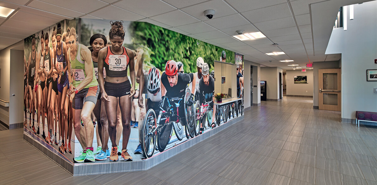 Starting Line Apartments Mural