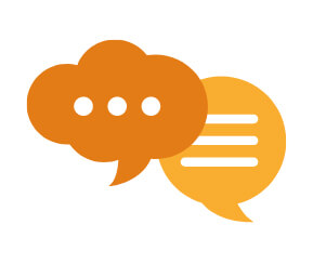 communication bubbles icon