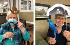 Pee Dee Gardens Residents Posing During Western Day And Pirate Day