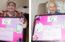 Two grandparents at Twelve Oaks senior living community