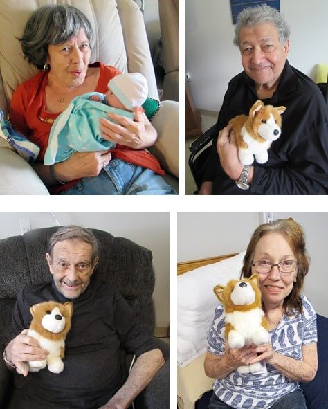 Wexford House Residents With Donated Dogs