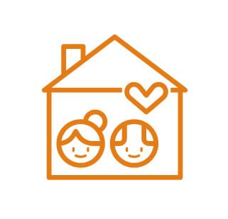 man and woman inside a house with a heart above the man