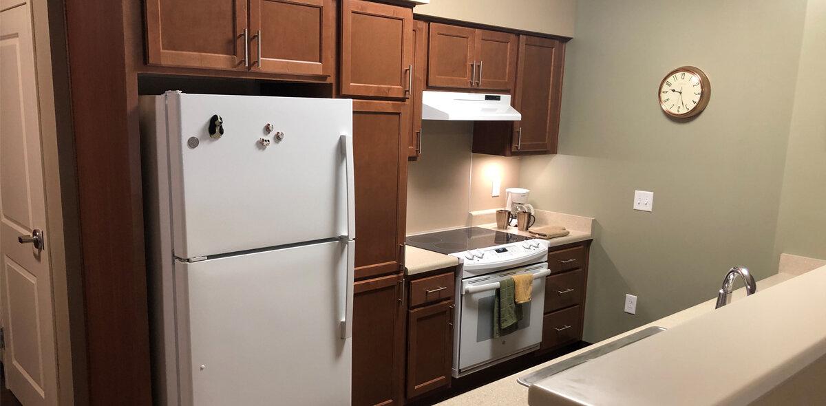 Boxcar Apartments Kitchen