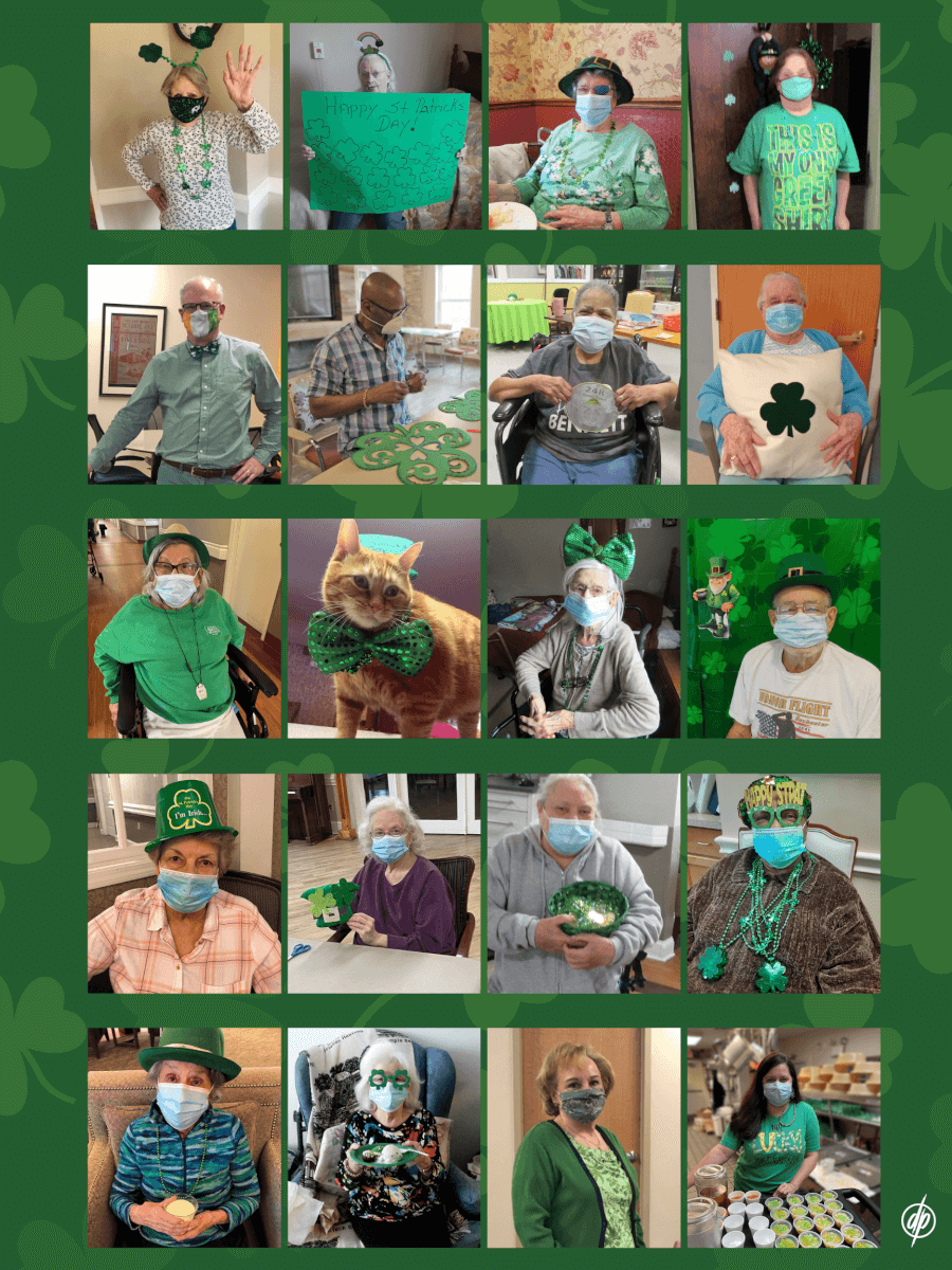 DePaul St. Patrick's Blog Collage