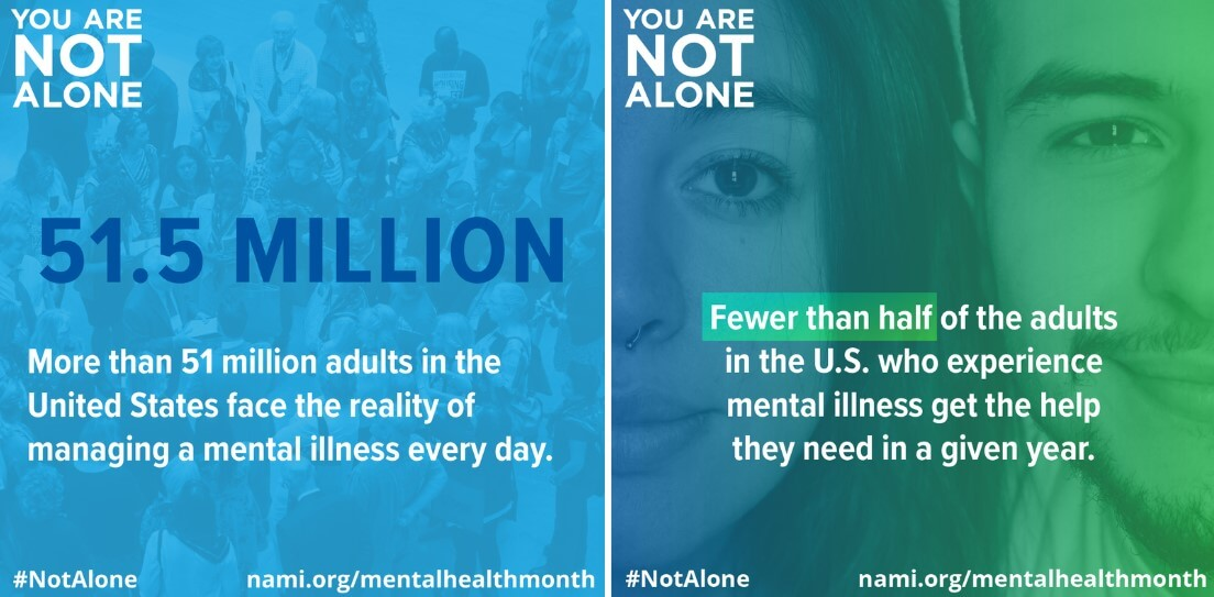 You Are Not Alone NAMI MHM Graphics