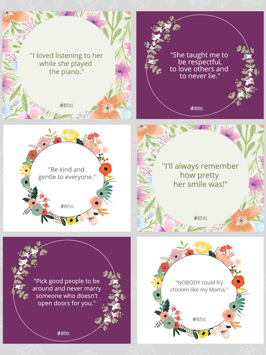 Mother's Day Quotes Collage DePaul