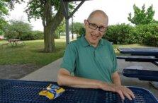 Rick Keller enjoys a picnic at Kershaw Park