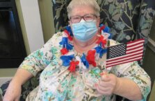 Christine Whitworth shows off her July 4th spirit