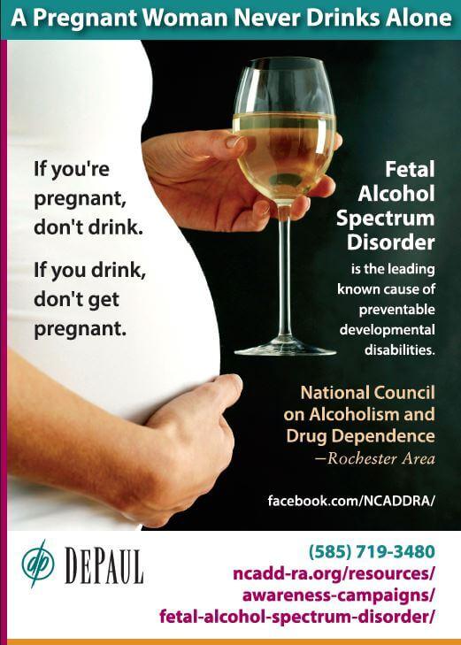 Advertisement about fetal alcohol spectrum disorder (FASD)